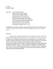beowulf bri adam english apex theme essay in many ways  1 pages beowulf 2