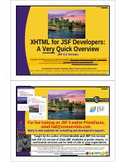05 JSF2-XHTML-Overview