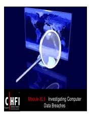 CHFI v4 Module 42 Investigating Computer Data Breaches