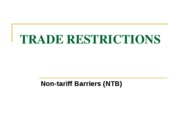 Nontarrif Barriers to Trade