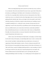 primary research essay