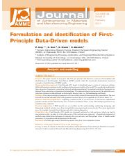 First principle data driven model