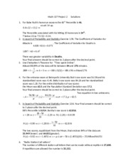 Math 137 Project 2 Solutions