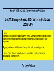 339958351-Lesson-2-Pearson-BTEC-HND-Diploma-Unit-14-Managing-Financial-Resources-in-Health-and-Socia