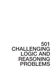 Challenging Logical Reasoning Problems Book