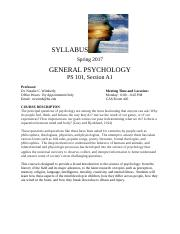 Syllabus General Psychology Spring 2017 (1).docx