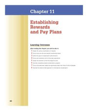 Chap 11 Establishing Rewards and Pay Plans