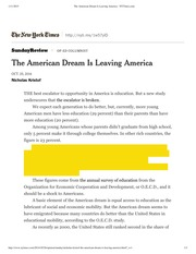 The American Dream Is Leaving America