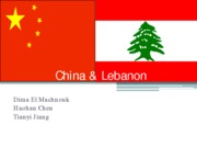 Presentation China-Lebanon