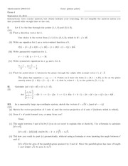 Exam A Solutions on Differential and Integral Calculus