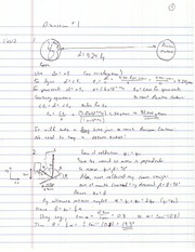 PHYS 1202W Discussion 1 answers