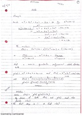 Quadratic Polynomial Division Lecture Notes