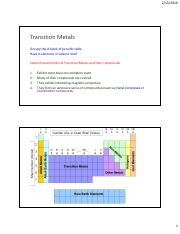 File 3 Transition elements  An introduction, Coordination Compounds and their Isomerism