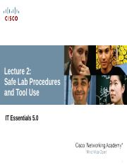 Lecture 2 Safe Lab Procedures and Tool Use
