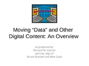 Moving Data - an Overview