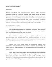 Metodologi Docx 4 0 Metodologi Kajian Pendahuluan Menurut Kamus Dewan Edisi Keempat Metodologi Membawa Maksud Sistem Yang Merangkumi Kaedah Dan Course Hero