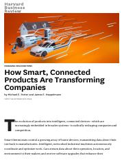 How Smart, Connected Products Are Transforming Companies