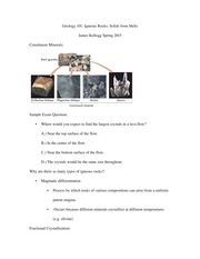 Geology 101 notes 20