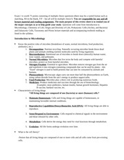 Exam 1 Study Guide - MBI