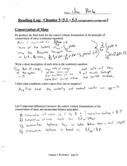 Conservation of Mass Notes