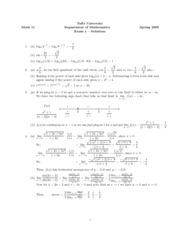 Math 11 - 2009 Spring - Exam 1 - solutions