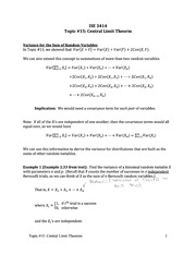 Topic 15-Central Limit Theorem