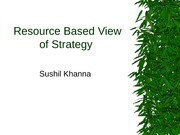 Resource based View of Strategy-2014