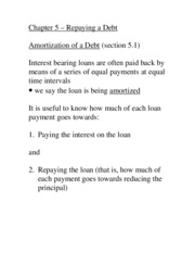 Section 5.12 repaying a debt