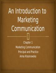 An Introduction to Marketing Communication