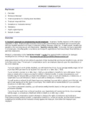 Legal Environment of HR Mgt. Worker's Comp Notes