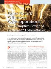 Kalberg - state actors offensive cyber ops--disruptive power of systematic cyberattacks