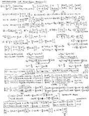Fall 2010 Final Exam Answers