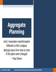 W13 Aggregate Planning