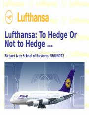 Lufthansa Case - Discussion.ppt