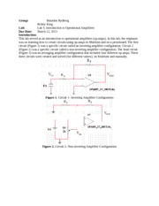 Lab Report 5- Intro to Op Amps
