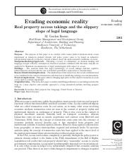 Evading economic reality Real property access takings and the slippery slope of legal languag.pdf