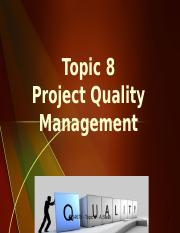 Topic8 Quality