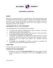 BAC 1614  Assignment Guidelines T1 2013-2014