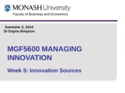 Week 5 Innovation Sources MOODLE