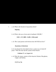 Solutions exam 3