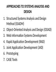 L6 APPROACHES TO SYSTEMS ANALYSIS AND DESIGN.pptx