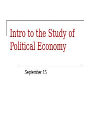 Intro to Political Economy.ppt