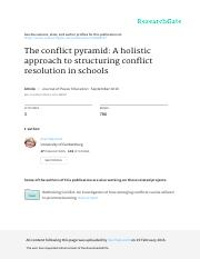 Hakvoort Conflict pyramid_A holistic approach to structuring conflict resolution in schools.pdf