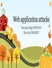 Web application attacks [Recovered].pptx