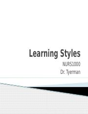Week 2 Learning Styles - Student(1).pptx