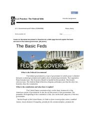 3.1.4 Practice: The Federal Web