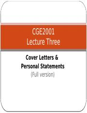 Lecture 3 T  The Cover Letter & Personal Statment Full Version.pptx