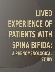 Lived Experience of Patients With Spina Bifida.pptx