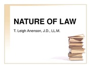 A - NATURE OF LAW