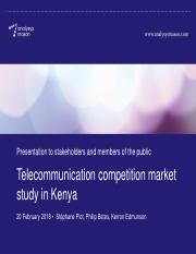 Presentation on Telecommunication Competition Study to Stakeholders .pdf